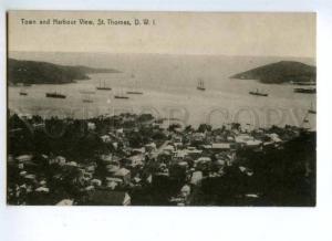 144572 Danish West Indien Virgin Islands St.Thomas Harbour OLD