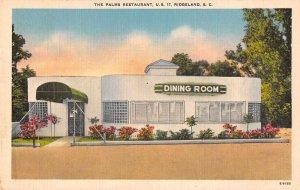 Ridgeland South Carolina The Palms Restaurant Vintage Postcard JE359331
