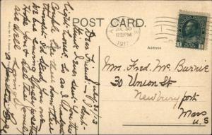 Pugwash Nova Scotia Lighthouse c1910 Postcard