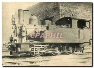Postcard Modern Schere Tenderlokomotive as Talbahn