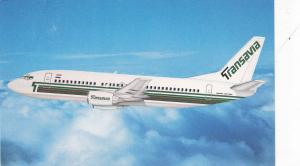 Transavia 737-300 airplane in flight, 1970s