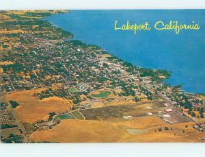 Unused Pre-1980 AERIAL VIEW Lakeport California CA hs7930