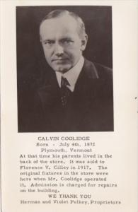 Calvin Coolidge Real Photo