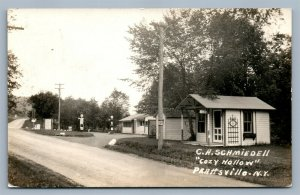 PRATTSVILLE NY C.A.SCHMIEDELL COZY HOLLOW VINTAGE REAL PHOTO POSTCARD RPPC