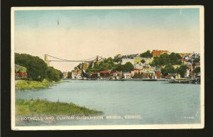 Postmark 1953 Hotwells & Clifton Bridge Bristol Carbo Colour Valentines Postcard