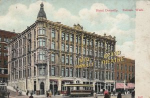 TACOMA, Washington, 1900-1910s; Hotel Donnelly, Grand Theatre, Trolleys