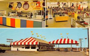 Geneseo Illinois~Circus Shop~Inside Out~Popcorn Machine~Texaco Gas Station~1970