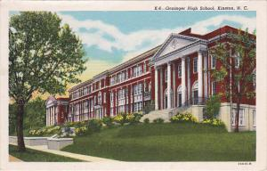 KINSTON, North Carolina, 1900-1910's; Grainger High School