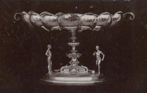 Silverware Postcard - Trophies - The Governor's Cup, Malta, 1910  - RS22692