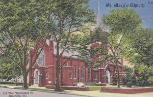 South Carolina Greenville ST Marys Church West Washington St