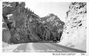 H75/ Boulder Colorado RPPC Postcard c1960s Boulder Canyon Highway  7