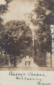 RP: MIDDLEBURG , Vermont , 1908 ; College Chapel