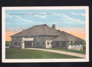 PONCA CITY OKLAHOMA ROCK CLIFF COUNTRY CLUB HOUSE GOLF COURSE OLD POSTCARD