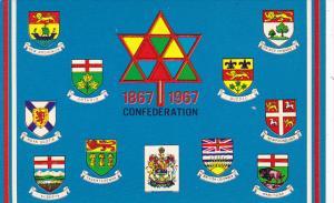 Canada Confederation 1867-1967 Provincial Crests