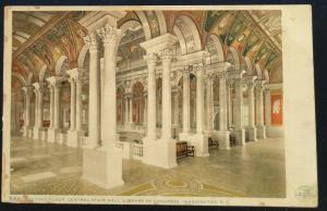 Postcard Unused 5441-Second Floor Library of Congress Washington DC LB