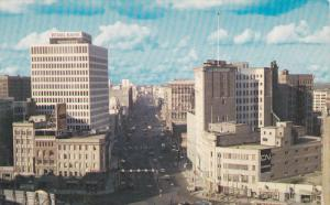 The busy corner of Portage and Main,  Winnipeg,  Manitoba,  Canada,   40-60s