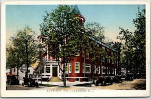 Lakewood, New Jersey Postcard BARTLETT INN Hotel / Street View / 1914 Cancel