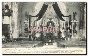 Old Postcard Mars Interior Tour From & # 39eglise Commemorative