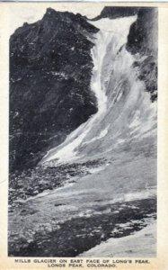 Rocky Mountain National Park MILLS GLACIER  East face of Longs Peak, 1920s
