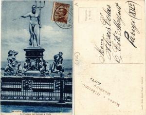 CPA MESSINA La Fontana del Nettuno e Ninfe . ITALY (494344)