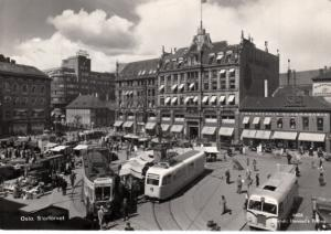 Oslo Stortovet - Streetcars and buses