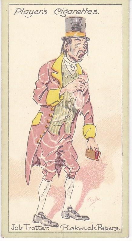 Cigarette Cards Players Characters From Dickens No 15 Job Trotter