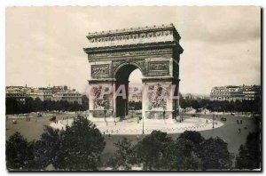 Old Postcard Paris Arc de Triomphe