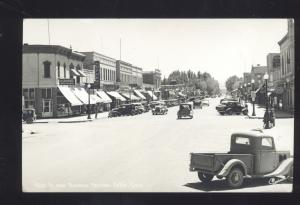 RPPC DELTA COLORADO DOWNTOWN STREET SCENE 1930's CARS REAL PHOTO POSTCARD