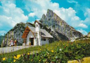 Italy Belluno Falzurego Mountain Pass The Little Church