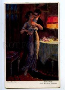 206729 Illuminated Lovers LAMP by BRENDANO Vintage NPG #667 PC