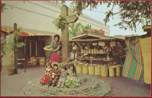 California Olvera Street post card