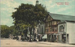 Whitman Massachusetts~Washington Street~Phonograph Shop~Family by Store~c1910