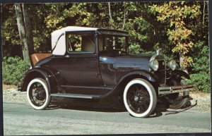 Classic Car Postcard 1929 FORD Model A Sport Coupe
