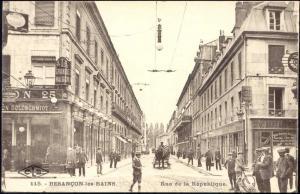 france, BESANCON les BAINS, Rue de la Republique (1928)