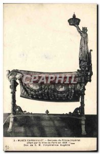Old Postcard Musee Carnavalet cradle of the Prince Imperial offered by the Ci...