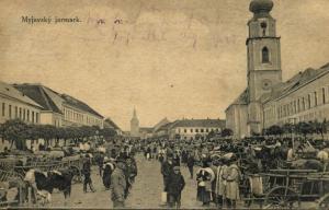 slovakia, MYJAVE MYJAVDKY Jarmark, Cattle Market (1926) Stamps