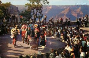 AZ, Grand Canyon, Arizona, Hopi Indian Dancers, Fred Harvey No. 33174