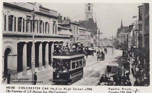 Colchester Essex 1904 View Bus Transport Essex Postcard
