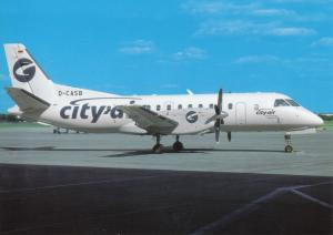 CITY AIR, SAAB 340B, unused Postcard