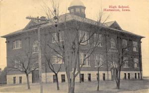 Humeston IA~Trees Are Bare @ The Old High School~Cupola~My Room Marked + 1910