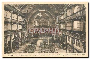 Old Postcard St Jean de Luz or the Parish Church was celebrated the marriage ...