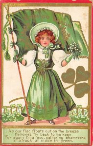 As our Flag Floats out on the Breeze St. Patrick's Day Postcard writing ...
