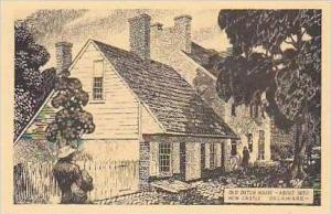 Delaware New Castle Old Dutch House About 1650 Albertype