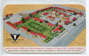 Ghost Ranch Lodge Highway 84 Tucson Arizona postcard