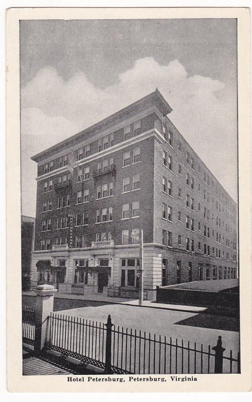 PETERSBURG , Virginia , 1920-30s; Hotel Petersburg