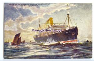 LS1261 - New Zealand Shipping Co Liner - Rimutaka - artist postcard