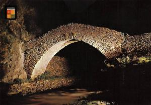 Andorra Pont romanic de Sant Antoni, Romanesque Bridge of St Anthony Nocturnal
