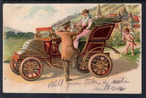 Man and Woman in Car,Cupid Romance
