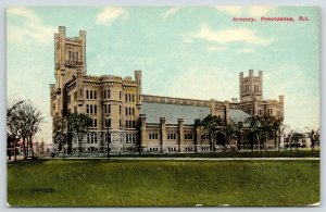 Providence Rhode Island~National Guard Armory~Towers & Battlements c1910 PC