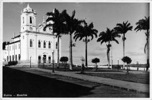 Bomfim Bahia Brazil view of church & grounds real photo antique pc (Y4534)